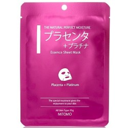mitomo benelux sheet mask placenta & platinum skincare